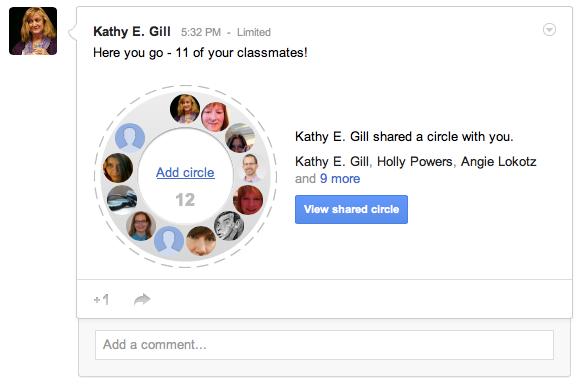 google circle example