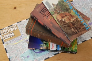 books and map