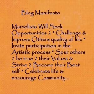 Marvelista's blog manifesto